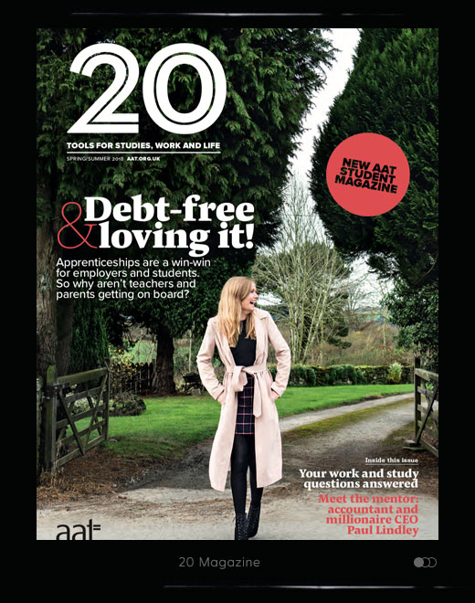 Launch issue of 20 magazine for AAT