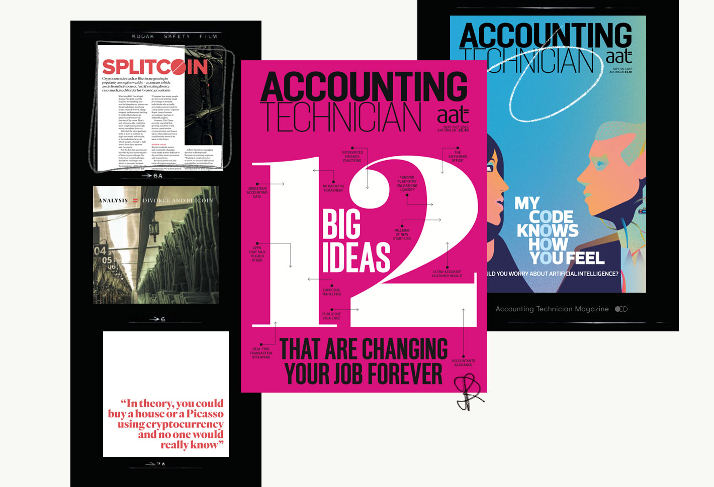 Covers of Accounting Technician magazine