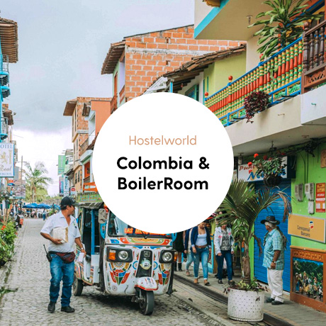Portfolio cover of Colombia & Boiler Room