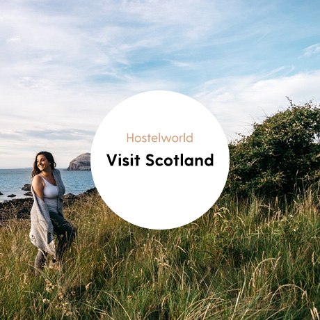 Portfolio cover Visit Scotland and Hostelworld campaign